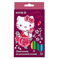 "Пластилин восковый Kite HK17-086 ""Hello Kitty"", 12 цветов (Y)"