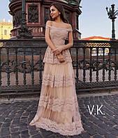 Вечернее женское платье в пол от 42 до 52 размера РАЗНЫЕ ЦВЕТА