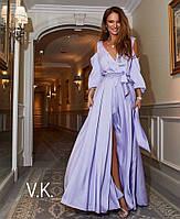 Вечернее женское шелковое платье  в пол от 42 до 54 размера РАЗНЫЕ ЦВЕТА