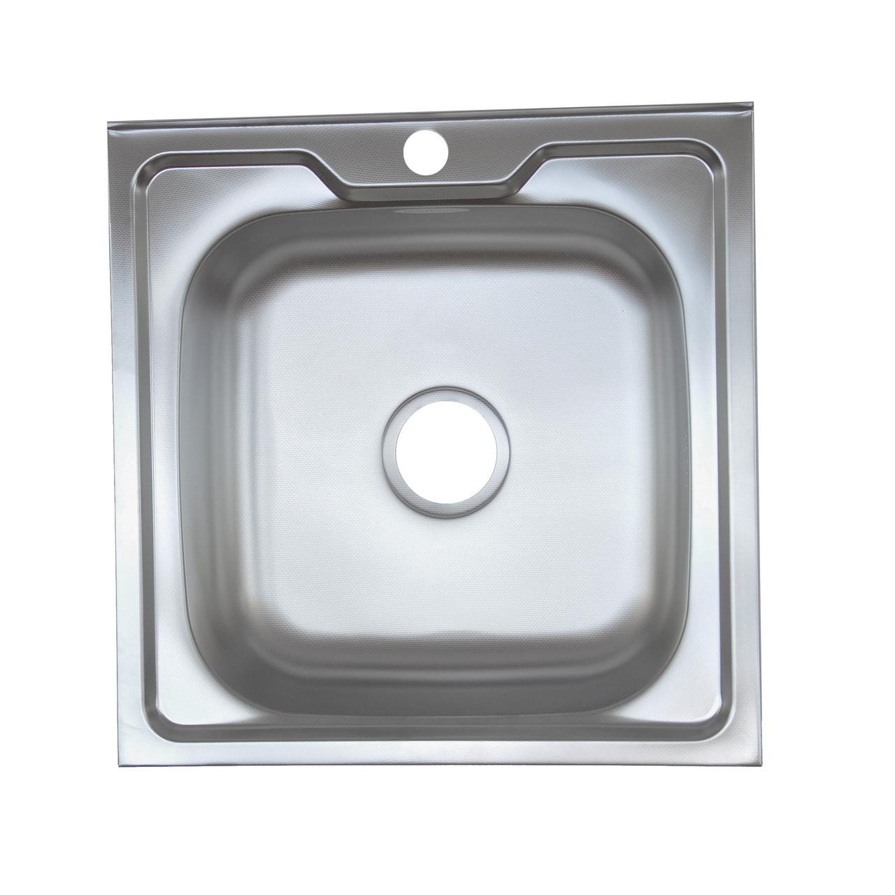 Стальная накладная мойка Platinum 5050 Satin 0,6мм