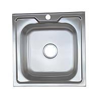 Стальная накладная мойка Platinum 5050 Satin 0,6мм, фото 1