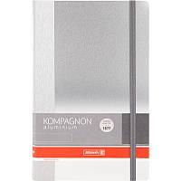 Записная книга А5 brunnen 105522005 Компаньон aluminium на 96 листов