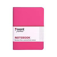 Записная книга axent 8205-10-a розовая partner mini в клетку 115*160 на 80 листов