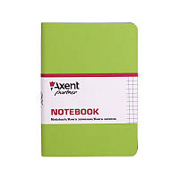 Записная книга axent 8205-09-a салатовая partner mini в клетку 115*160 на 80 листов