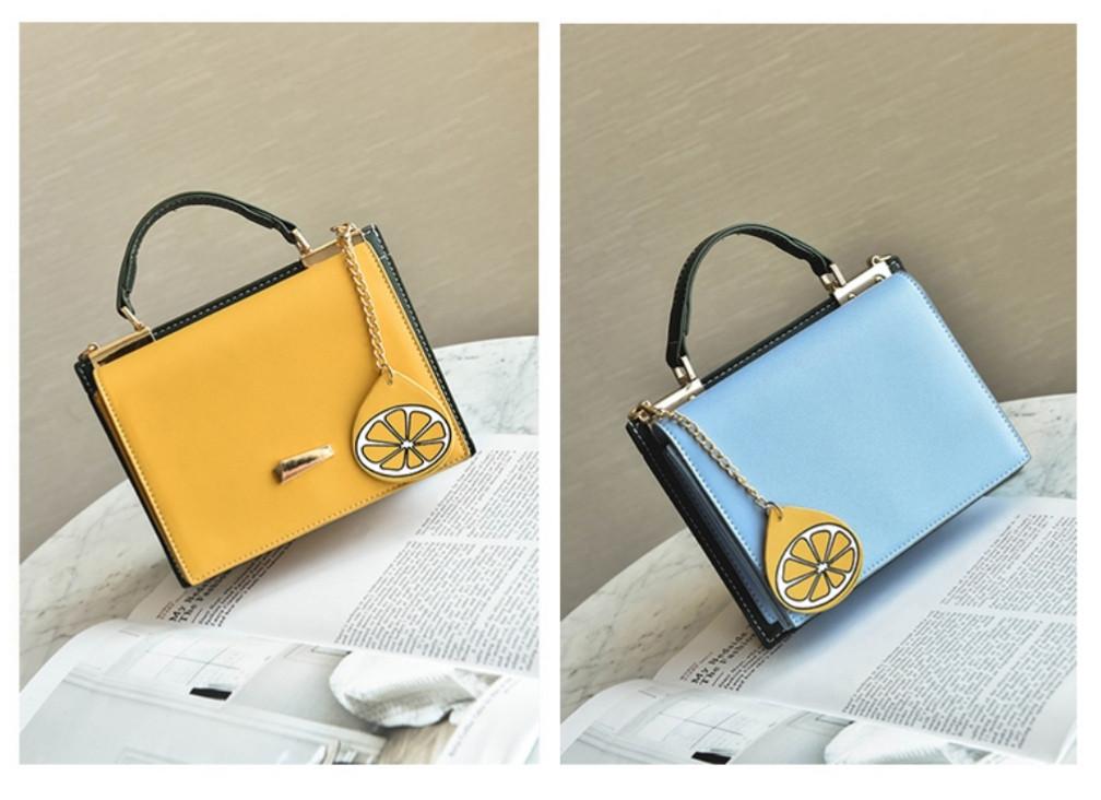 571f241b65e4 Сумка женская модная оригинальная цветная голубая + желтая -  Интернет-магазин