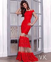 Вечернее женское гипюровое платье  в пол от 42 до 54 размера РАЗНЫЕ ЦВЕТА