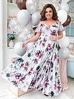 Платье длинное на запах, с 48-54 размер, фото 1