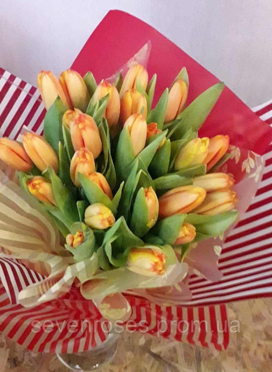 Букет из 25 тюльпанов Желтых