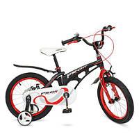 Велосипед детский PROF1 16Д. LMG16201 Infinity черно-красный матовый