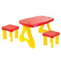 Детский столик Mochtoys с 2 стульчиками.