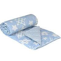 "Одеяло шерстяное Руно™ ""Blue star""  140х205см  демисезонное"