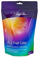 Презервативы клубничные, шоколадные, Тутти-Фрутти, фруктово-ягодные Vibratissimo XX.L Fruit Color 55мм, 50 шт.
