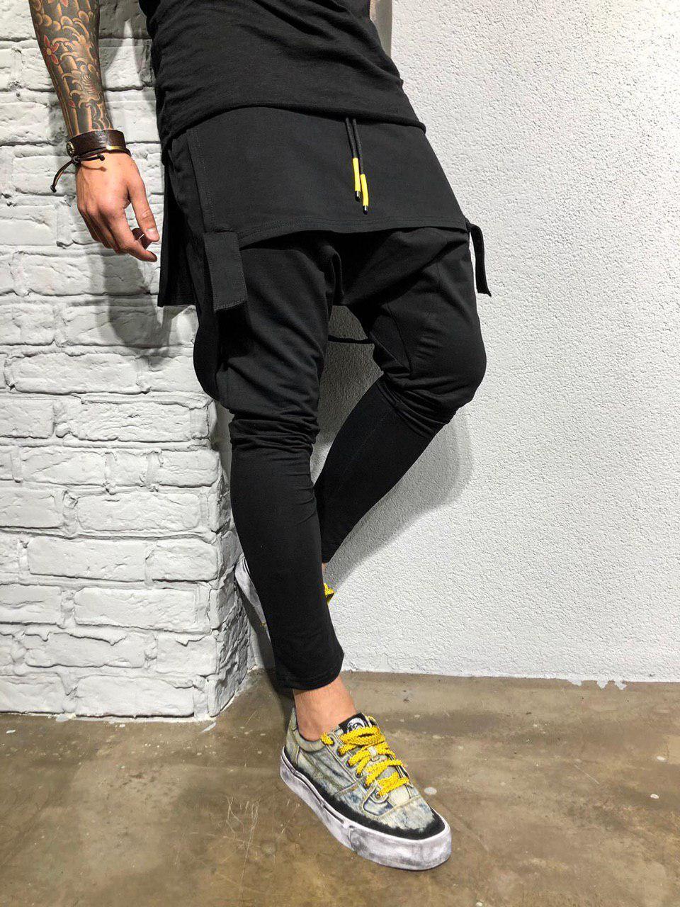 Мужские спортивные штаны черные КА1969