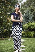 Женская пижама Shirly 5819, костюм домашний с повязкой на глаза для сна, фото 1