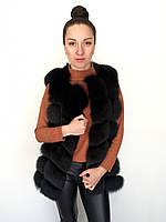 Жилет песцовый Oscar Fur 360-3 Черный