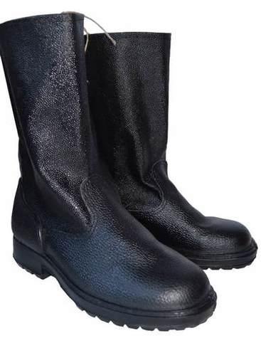 Сапоги рабочие комбинированные (юфть+кирза) ВФ демисезон Бортопрошивные черные
