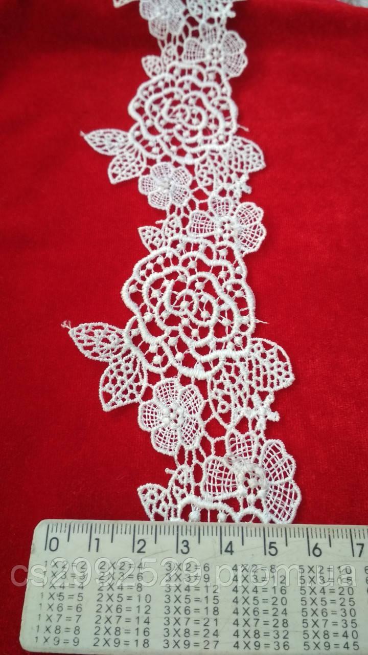 Кружево цветы 9метров. Кружево макраме. Кружево макраме цветы с кордом. Белый
