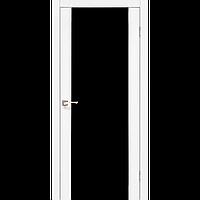 Двери KORFAD SR-01 (черное стекло триплекс) Полотно+коробка+1 к-т наличников