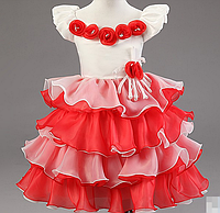 Детское роскошное платье. С воланами.