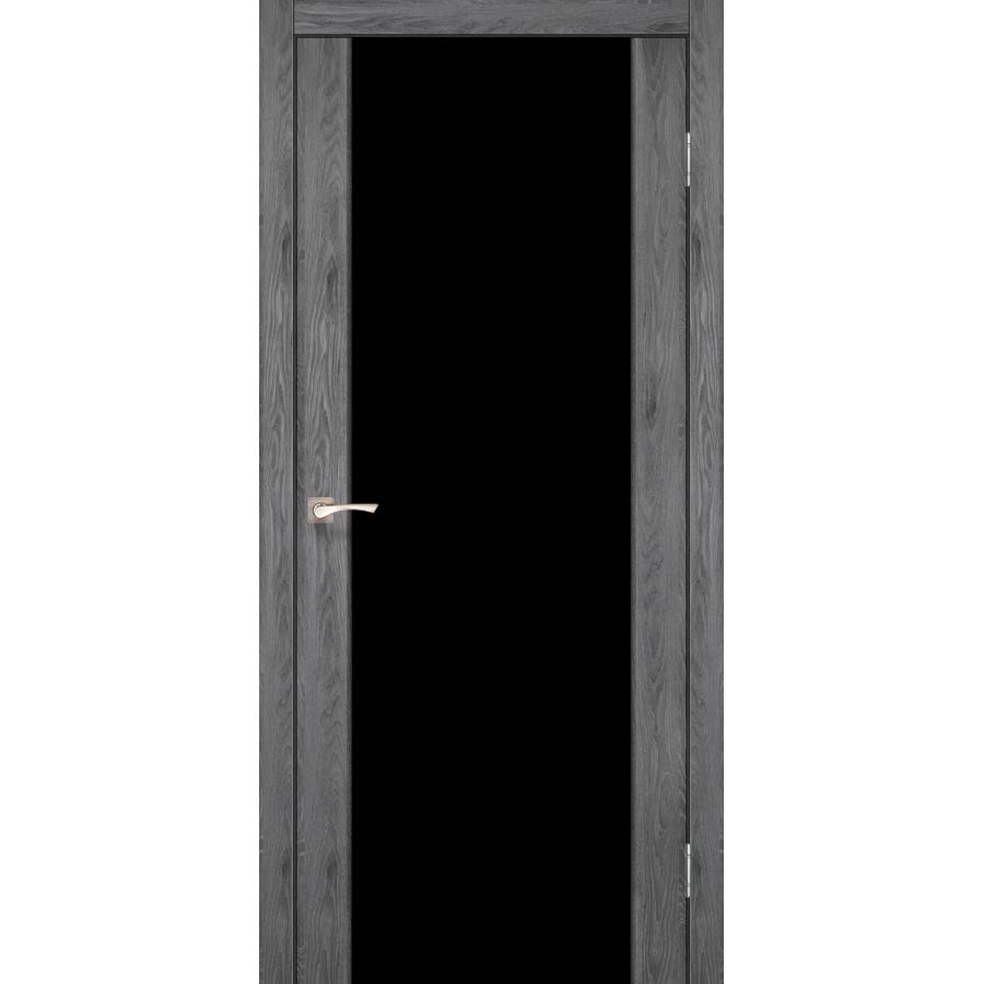 Двери KORFAD SR-01 (черное стекло триплекс) Полотно
