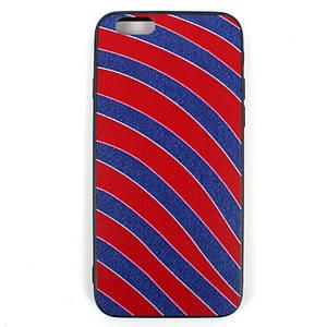 Чехол Геометрический микс iPhone 6 Красная полоска
