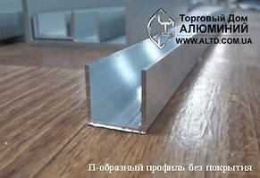 Алюминиевый швеллер | П профиль, Анод 19.6х20х1.8 мм, фото 2