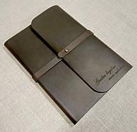 Софтбук А5. Блокнот в кожаной обложке ручной работы с лазерной гравировкой надписи (цитата, пожелание).