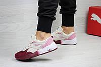 Женские кроссовки в стиле Puma Trinomic, бордовые с розовым 36 (22,5 см)