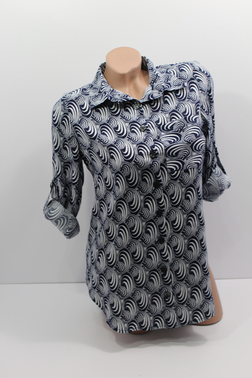 Женская рубашка с длинным рукавом штапель оптом в Украине