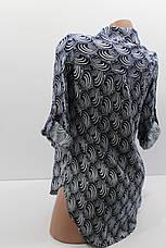 Женская рубашка с длинным рукавом штапель оптом в Украине, фото 2