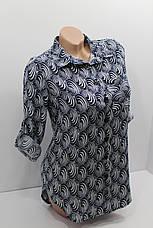 Женская рубашка с длинным рукавом штапель оптом в Украине, фото 3