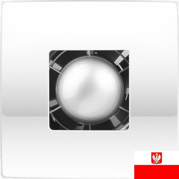 Внешний вид недорогого ультракомпактного осевого вытяжного вентилятора для настенного и потолочного монтажа Colibri Atoll 100 (диаметр патрубка воздуховода ― 100 мм, высокая производительность, нешумный) ― купить вентилятор по низкой цене с доставкой по Украине в интернет-магазине вентиляции ventsmart.com.ua