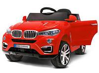 Электромобиль BMW X6 красный + ЕВА колеса