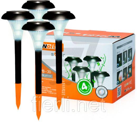 Садовый светильник на солнечных батареях Wolta SPB-30 ( в наборе 4 шт.)