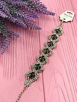 Нарядный женский браслет из кристаллов