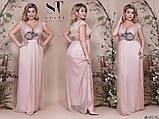 Элегантное женское вечернее платье в пол с ниткой люрекса 48-52р.(5расцв), фото 7