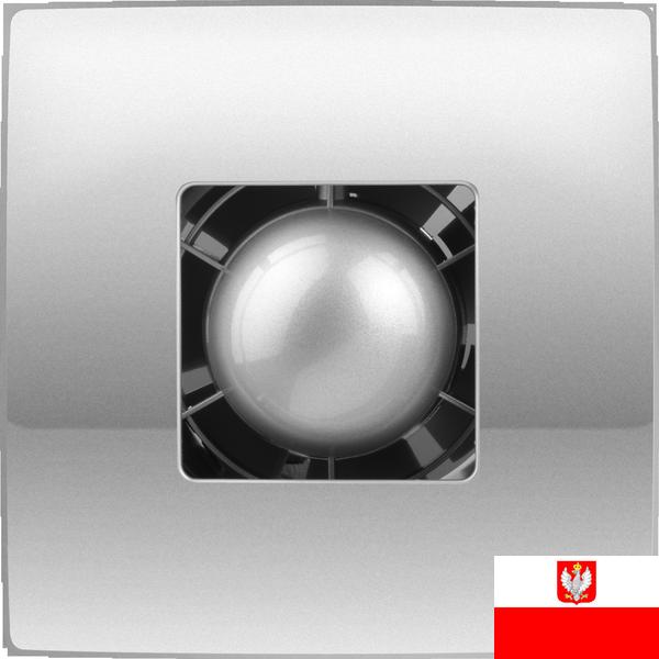 Внешний вид недорогого ультракомпактного осевого вытяжного вентилятора для настенного и потолочного монтажа Colibri Atoll 100 titan (диаметр патрубка воздуховода ― 100 мм, высокая производительность, нешумный) ― купить вентилятор по низкой цене с доставкой по Украине в интернет-магазине вентиляции ventsmart.com.ua
