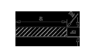 Полоса | Шина | Пластина алюминий, Анод, 50х8 мм