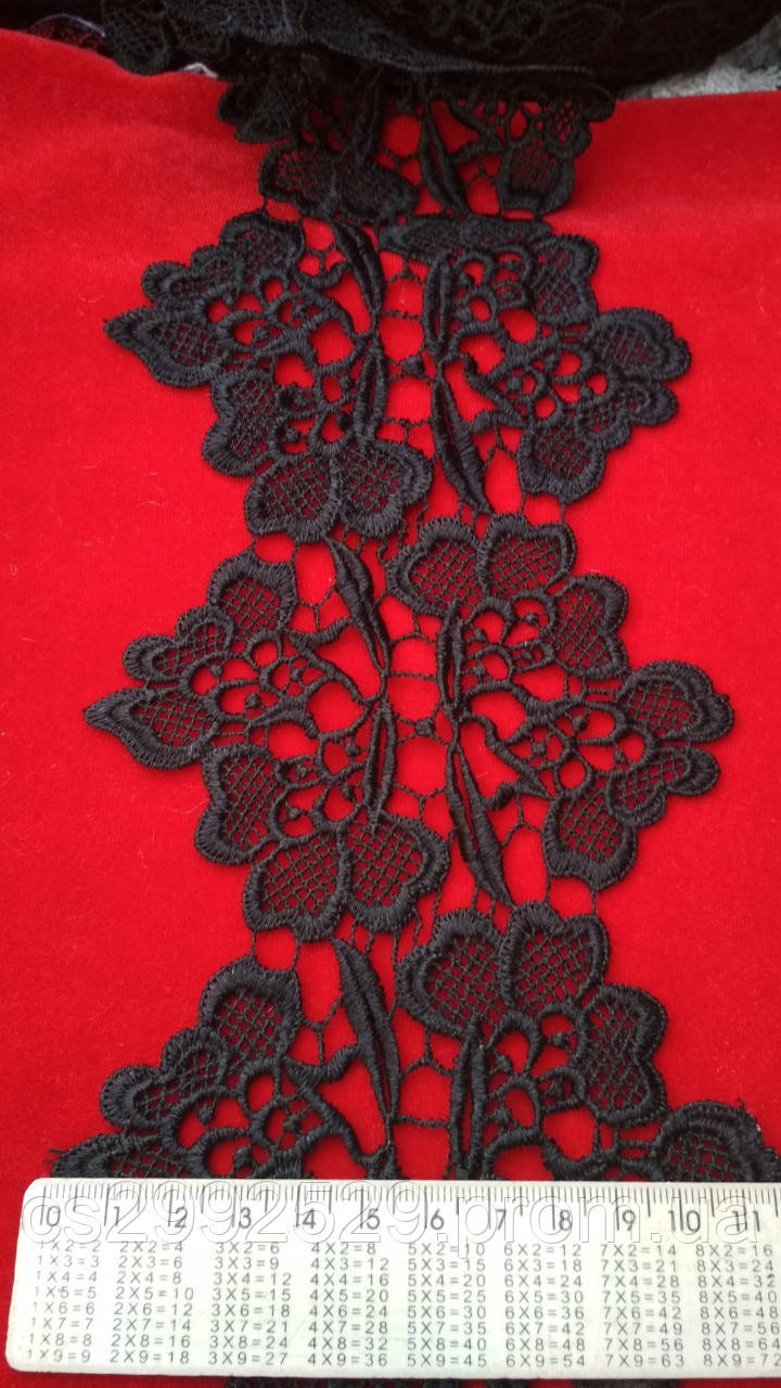 Кружево цветы 20 м. Кружево цветы декоративные чёрный