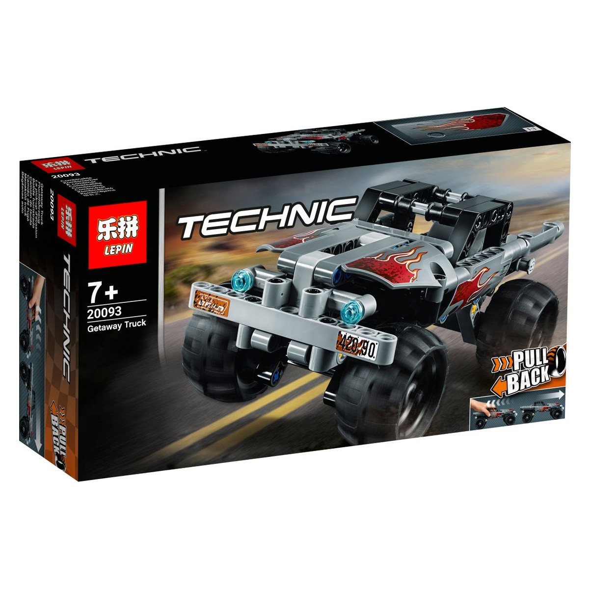 "Конструктор Lepin 20093 ""Машина для побега"" (реплика Lego Technic 42090), 144 дет"