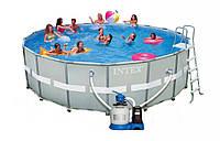 Каркасный круглый бассейн Intex 28334 (549*132 см), фильтр, хлоргенератор