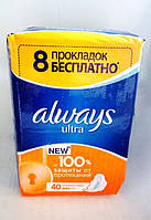 Прокладки Always Ultra 4 капли 36 шт
