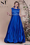 Женское вечернее комбинированное платье длинное в пол.(5расцв)  48-52р., фото 2