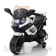 Электромобиль-мотоцикл белый T-7210 WHITE мотор 1*15W аккумулятор 6V4,5AH деткам 2-4 года
