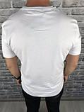 Гарна Чоловіча Футболка Dolce Gabbana біла 100% Бавовна Топ Новинка 2019 року Дольче Габбана копія, фото 2