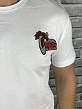 Гарна Чоловіча Футболка Dolce Gabbana біла 100% Бавовна Топ Новинка 2019 року Дольче Габбана копія, фото 3