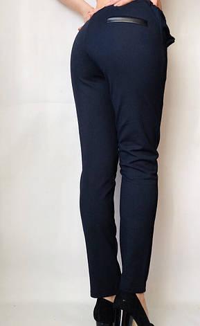 Женские брюки из трикотажа № 63 синие, фото 2