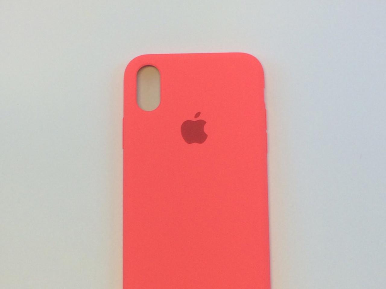 Силиконовый чехол для iPhone Xr, - «кораловый» - copy original