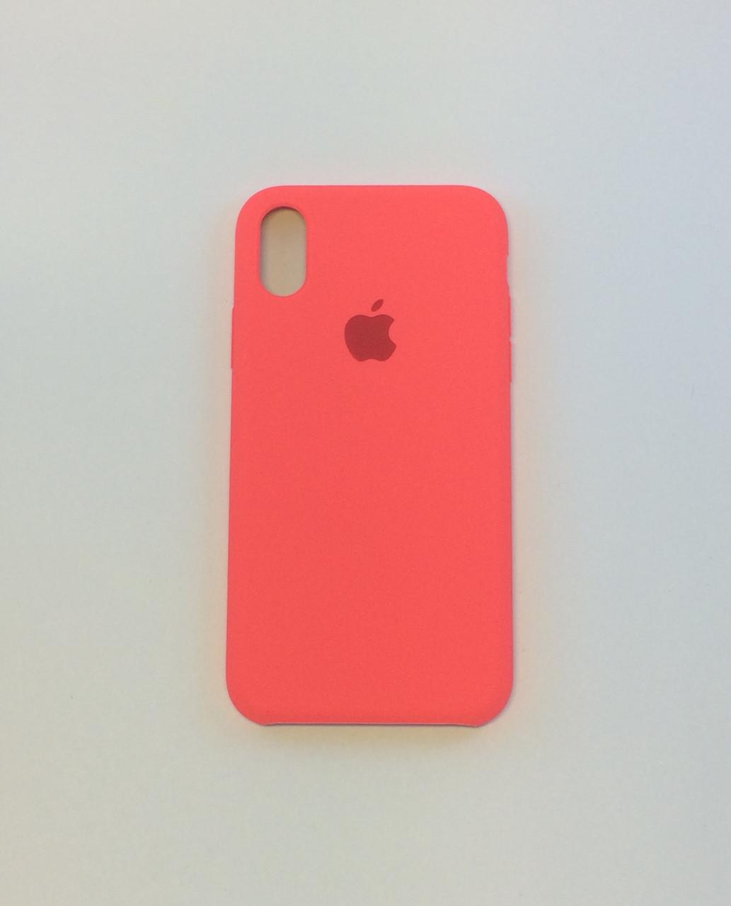 Силиконовый чехол для iPhone X, - «кораловый» - copy original