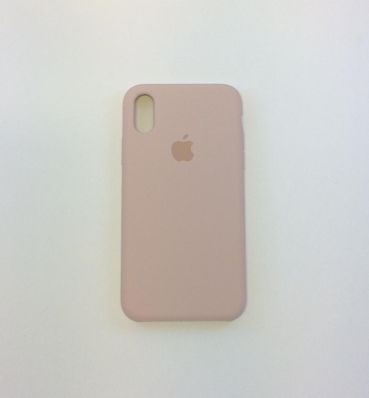 Силиконовый чехол для iPhone Xr, - «пудра» - copy original